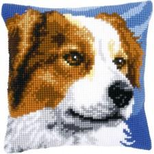 Cross stitch cushion kit Border collie
