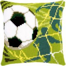 Cross stitch cushion kit Football