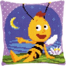Cross stitch cushion kit MDB Willy at night