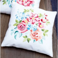 Embroidery cushion kit Flower bouquet II