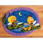 (OP=OP) Latch hook shaped rug kit MDB Maya&Willy at night