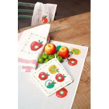 (OP=OP) Pot holder kit Colourful apples I set of 2