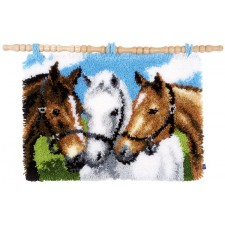 Latch hook rug kit Horses
