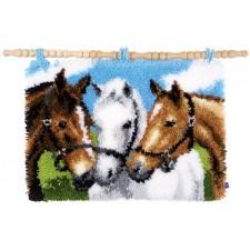 Knooptapijt Paarden