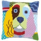Cross stitch cushion kit Modern dog