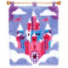 Latch hook rug kit Fairytale castle