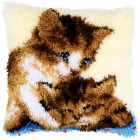 Latch hook cushion kit Two cats