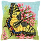 Cross stitch cushion kit Butterfly