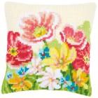 Cross stitch cushion kit Summer flowers