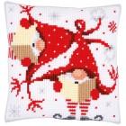 Cross stitch cushion kit Christmas gnomes II