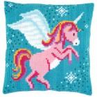 Cross stitch cushion kit Unicorn