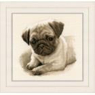Counted cross stitch kit Pug dog