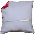 Cushion back with zipper - grey
