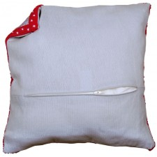 Cushion back with zipper - grey