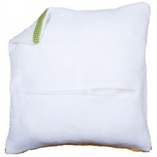 Cushion back with zipper - white