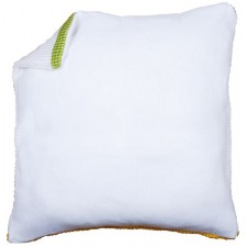 Cushion back without zipper - white