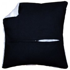 Cushion back with zipper - black
