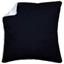Cushion back without zipper - black