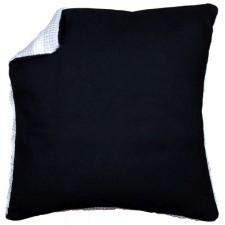 Kussenrug zonder rits - zwart