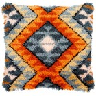 Latch hook cushion kit Boho ethnic print