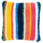 Latch hook cushion kit Bright stripes