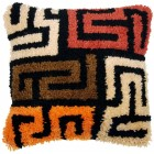 Latch hook cushion kit Boho kuba cloth