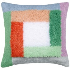 Needlework cushion kit Palm springs color blocks