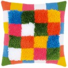 Needlework cushion kit Bright squares