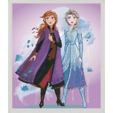 Diamond painting kit Disney Frozen 2 Elsa and Anna