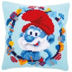 Cross stitch cushion kit The Smurfs Papa