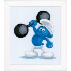 Counted cross stitch kit The Smurfs Hefty