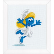 Counted cross stitch kit The Smurfs Smurfette