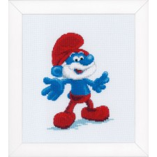 Counted cross stitch kit The Smurfs Papa