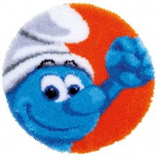 Latch hook shaped rug kit The Smurfs Hefty