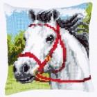 Cross stitch cushion kit White horse