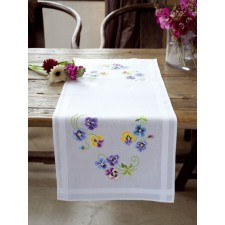 Table runner kit Pretty pansies