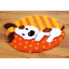 (OP=OP) Latch hook shaped rug kit Spotted puppy