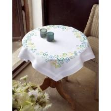 Tablecloth kit Butterflies in green tones