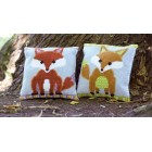 (OP=OP) Cross stitch cushion kit Fox - brown/green