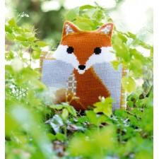 (OP=OP) Cross stitch shaped cushion kit Fox